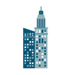 Building urban skyscraper image vector