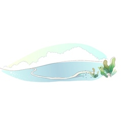 Mountain landscape scene vector
