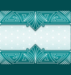 Geometric abstract frame on vector