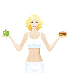 healthy eating vector image