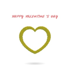 green heart shape vector image