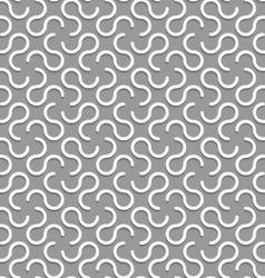 3d white omega like shapes vector