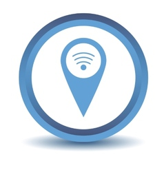 Blue wi-fi pointer icon vector