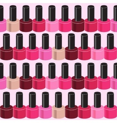 Realistic nail polish seamless pattern background vector