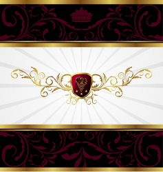 Ornate gold frame vector