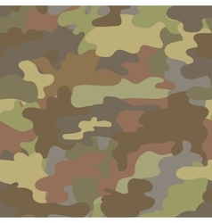 Seamless camouflage military pattern brown vector
