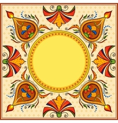 Happy Diwali background with diya vector image