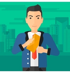 Man putting envelope in pocket vector