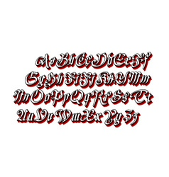 Blackletter gothic script hand-drawn font vector