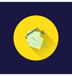Flat stationery icon vector