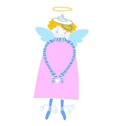 happy love angel vector image