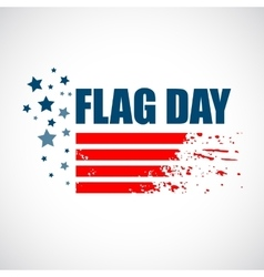 American Flag Day background design vector image