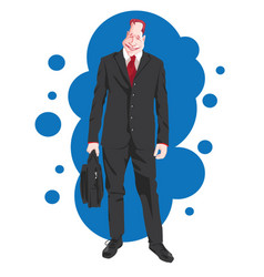 business executive vector image