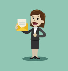 businesswoman or manager has a lot of emails he vector image vector image