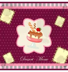 desert menu vector image vector image