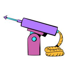 Fishing speargun icon icon cartoon vector