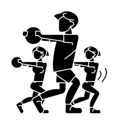 fitness people - gym icon vector image vector image