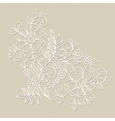 Flower design element drawing flowers vector