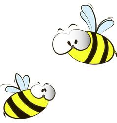 funny cartoon bees vector image vector image