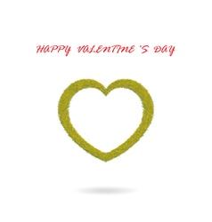 green heart shape vector image vector image
