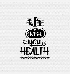 i wish you health banner badge for a blog or vector image