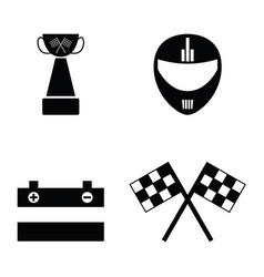 karting icon set vector image vector image