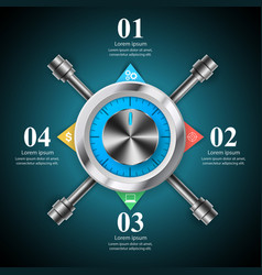 Key lock safe icon business infographic vector