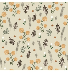 Light floral vintage seamless pattern vector image