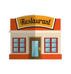 Little restaurant local vector