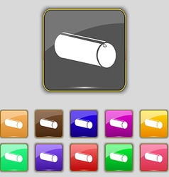 pencil case icon sign Set with eleven colored vector image