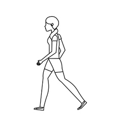 Person walking isolated icon vector