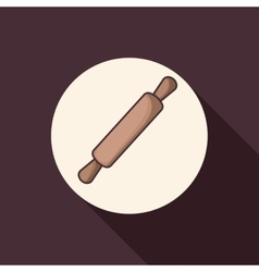 Rolling pin of bakery design vector