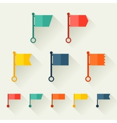 Set of flags for design in flat style vector image vector image