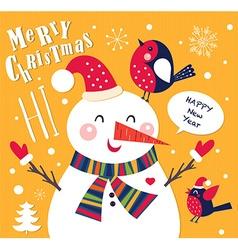 Snowmen christmas design vector