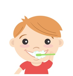 tooth cleaning boy 2 vector image
