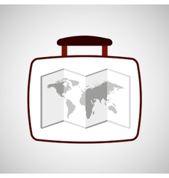 travel concept world map icon vector image