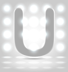 U over lighted background vector image vector image