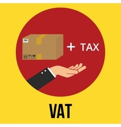Vat value added tax goods plus and vector
