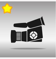 Video camera black icon button logo symbol vector