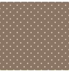 Vintage brown background with grunge polka dots vector image