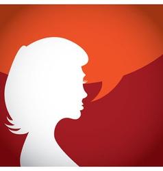 Womans head vector image
