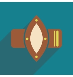 Flat icon with long shadow watches women vector