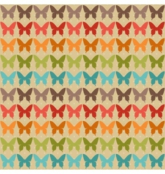 Seamless pattern with butterflies in retro style vector image