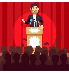 Business leadership concept with speaker vector