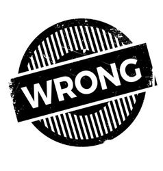 Wrong rubber stamp vector