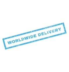 Worldwide delivery rubber stamp vector