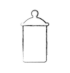 Jar kitchen object vector