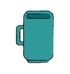 Mug cup object vector