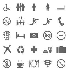 Plublic icons on white background vector