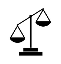 law scale vector image